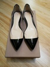 gianvito rossi iconic plexi flat vernice black 36 UK 3 VGC