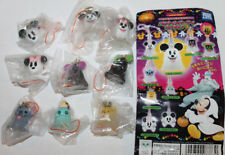 Japan Disney Cell Phone Strap Keychain Halloween Stitch & Mickey & Pooh Set