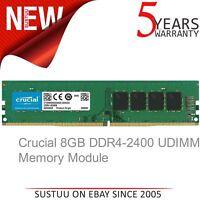 Crucial CT8G4DFS824A 8 GB (DDR4│2400 MT/s│PC4-19200│SR x8│DIMM│288-Pin) Memory