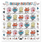 USPS New Message Monsters Pane of 20 <br/> Buy with confidence: Official Postal Store on eBay