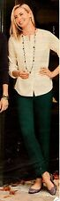 NWT $99 TALBOT'S JUNIPER GREEN HAMPSHIRE ANKLE PANTS SIZE 6