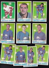 1970 Topps Team LOT of 10 Buffalo SABRES Near Mint GOYETTE FLEMING MARSHALL
