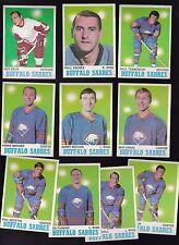 1970 Topps Team LOT of 10 Buffalo SABRES Near Mint GOYETTE FLEMING MARSHALL