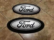 2018-20 Ford F150 front & rear emblem custom MATTE black and INGOT with surround