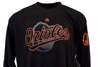 Baltimore Orioles Black Majestic MLB Long Sleeve T-Shirt, nwt, Mens BIG & TALL