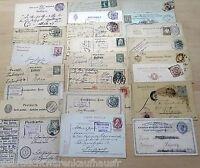 Postkarten aus der Zeit von 1900 bis 1930/100 Stück gestempelt+mit Briefmarke