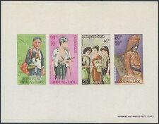 LAOS Bloc N°32** Ethnies Non dentelé , 1965, miniature sheet imperf. C45a MNH