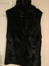 Kimberly Ovitz Genuine Goat Fur Gilet Vest Black Size Small