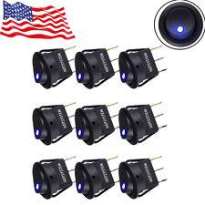 HOTSYSTEM Rocker Dot Toggle SPST Switch Blue LED On-Off Control 10 Pack US Stock