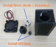 9mm laser diode mounts for 520nm diode with coated Focus glass lens,40x40mm