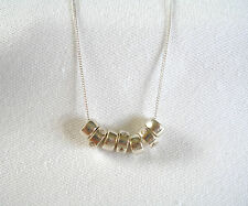 .25 Ct. Cubic Zirconia 'Circles'  Sterling Silver Necklace