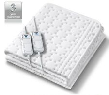 Monogram Allergyfree Heated Double Mattress Cover Electric Blanket Dual Control