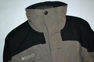 26201-a Mens Columbia Titanium Ski Jacket Size 2XLT TALL Gray Black