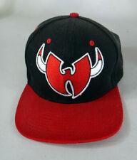 WU tang CLAN Chicago Bulls baseball black red hat cap wear vintage brand ltd
