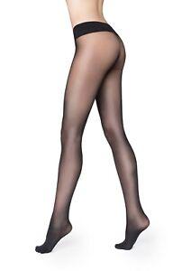 Marilyn Seamless Luxe Hosiery Sheer Matt 30 DEN European pantyhose, Black S/M