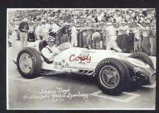 REAL PHOTO INDIANAPOLIS 500 CAR RACE RACING JOHNNY BOYD POSTCARD COPY