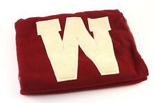 1948 - 1950's, University of Wisconsin Badgers Full Size Blanket & Original Case