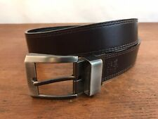 Levis Brown Leather Belt with Metal Buckle Mens Size 40