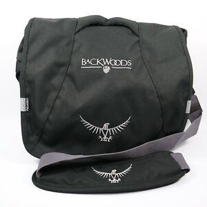 Osprey Messenger bag Medium black Flap Backwoods Magazine Promo