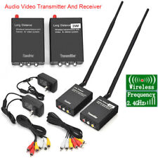 2.4GHz 3W Wireless AV Sender TV CCTV Camera DVR Audio Video Transmitter Receiver