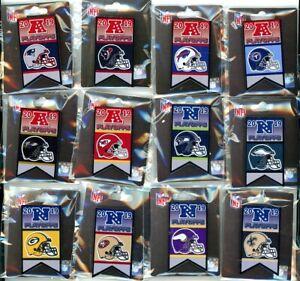 2019 / 2020 NFL Playoff Banner Pin Choice 12 Pins Playoffs Super Bowl 54 LIV