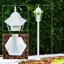 Wege Lampe weiß Garten Aussen Steh Leuchte Stehlampe Laterne Aluminium Terrasse