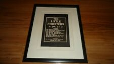 THE LITTLE ROOSTERS 1981 tour-framed advert