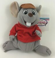 """Disney Store The Rescuers Bernard Mouse Bean Bag 7"""" Plush Stuffed Toy with Tags"""