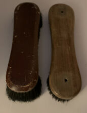 """Lot Of 2 Billiards 10""""&11"""" Pool Table and Rail Brush Cleaner Solid Wooden Handle"""