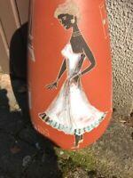 50er 60er Vase Petticoat Teenager Keramik 50s  Bodenvase Handarbeit mid Century