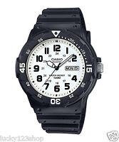 MRW-200H-7B White Casio Watches 100M Date Day Display Analog Resin Band New