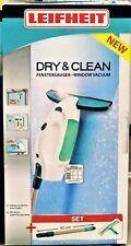 Leifheit 51003 Fenstersauger Dry&Clean, Komplettset mit Einwascher und Stiel NEU