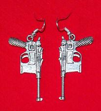 German Broomhandle Mauser C96 Pistol Earrings - han solo Construktion 96 handgun