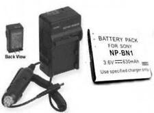 Battery + Charger f/ Sony DSC-W510R DSC-W510S  DSC-W530