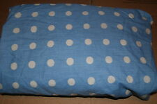 Jumping Beans Blue White Dots Full Fitted Sheet + Pillow Case
