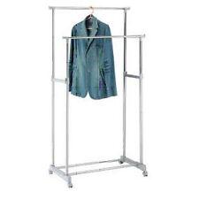 TWEDDLE - Metal Double Clothes Rail / Wardrobe - Silver BAHG22B