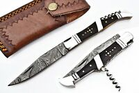 Laguiole Damaststahl Klappmesser, Taschenmesser, Skinner Messer, # GUJ-008