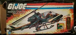 VINTAGE HASBRO GI JOE 1983 ASSAULT COPTER DRAGONFLY - COMPLETE & WILD BILL