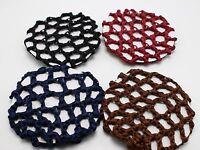 5 Mixed Color Elastic Band Crochet Hair Bun Cover Snood Hair Net Ballet Dance