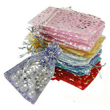 25 pcs/set Organza Jewelry Wedding Gift Pouch Bags  7x9 cm 3X4 Inch Mix Colour