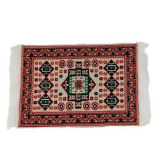 1/12 Dolls House Miniature Red Pattern Woven Rug Floor Carpet 17*10cm Hot