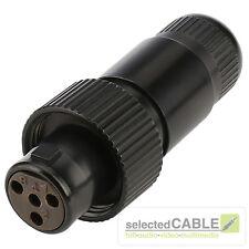 Hicon MINI- XLR 4 broches Douille robuste IP67 féminin MAX Ø de câble 4,9mm