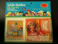 Rare Vintage Liddle Kiddles Beddy-Bye Biddle Doll Set Little Bed Booklet MOC