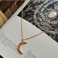 Kleine Mond Anhänger Halsketten Crescent Choker Halskette Schmuck für Frauen
