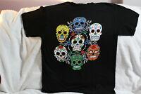 SUGAR SKULLS SKULL MEXICO DAY OF THE DEAD ROSE FLOWER CROSS T-SHIRT SHIRT