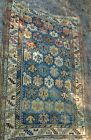 Antique Distressed Small Area Rug Hand Knotted Oushak Rugs Yastik 52 x 37 1/2