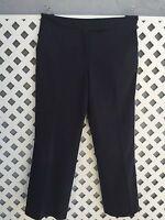 LANDS END Womens Black Wool Blend Career Dress Pants Lined Trousers Sz 8
