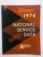 Vintage Mitchell Service Repair Manual Domestic Car National Service Data 1976