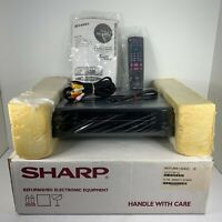 Sharp VC-S101U S-VHS ET 4-Head in Original Box with Remote, Manual & AV Cable!