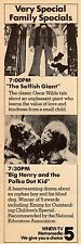 1979 WNEW TV AD~THE SELFISH GIANT~BIG HENRY & THE POLKA DOT KID~FAMILY SPECIALS